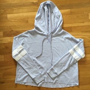Women's SO Cropped Waffle Knit Hooded Top